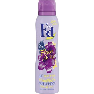 Deodorant spray flower me up purple lilly fantasy