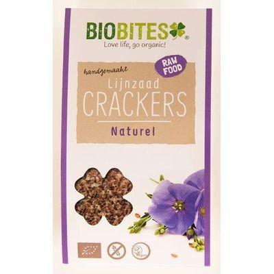 Biobites Raw food lijnzaad cracker naturel