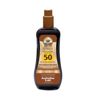 Australian Gold Spray gel met bronzer SPF50