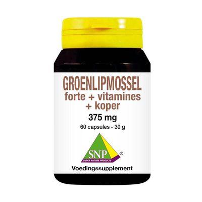 SNP Groenlipmossel forte + vitamines + koper
