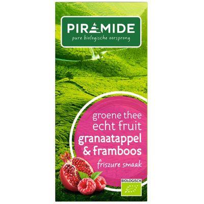 Piramide Groene thee granaatappel framboos