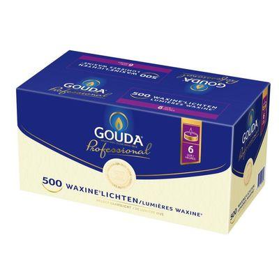 Gouda Theelicht 6 uur wit doos