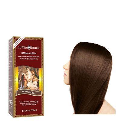 Surya Brasil Henna haarverf creme licht bruin