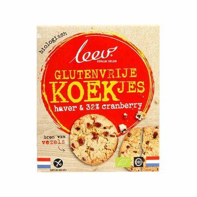 Leev Bio glutenvrije oerrr haver & cranberry koekjes
