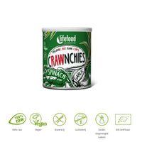 Lifefood Crawnchies stapelchips spinazie knoflook raw & bio