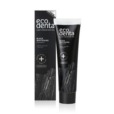 Ecodenta Tandpasta whitening houtskool extra black