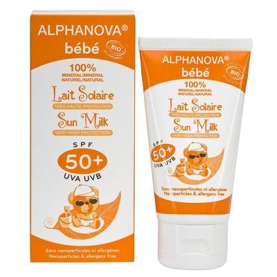 Alphanova Sun Sun zonnebrand milk baby SPF50 zonder parfum