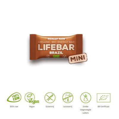 Lifefood Mini lifebar energiereep Brazil raw & bio