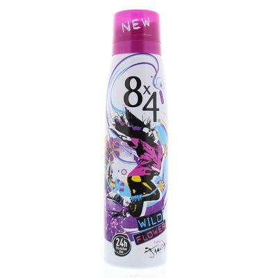 8X4 Deodorant spray wild flower