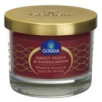 Gouda Gevuld geurglas rode peony/sandalwood 66/80