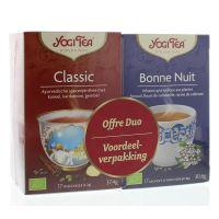 Yogi Tea Duo classic / bedtime 2 x 17 stuks