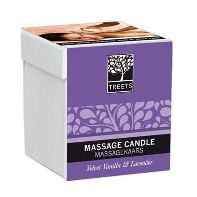 Treets Massage candle velvet vanilla & lavender
