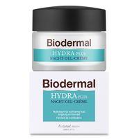 Biodermal Hydraplus nacht gelcreme vochtarme huid