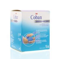 3M Coban zelfklevende zwachtel blauw 4.5 m x 7.5 cm