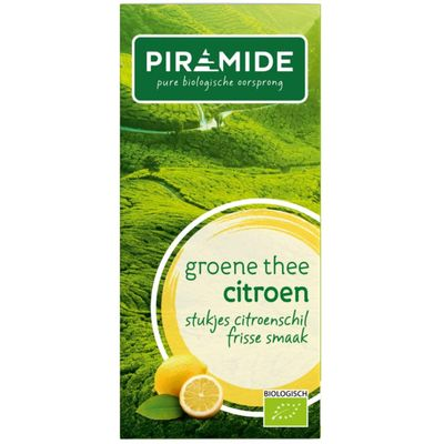 Piramide Groene thee met citroen eko
