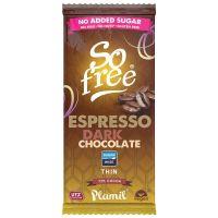So Free Chocolade reep puur espresso zonder suiker dun