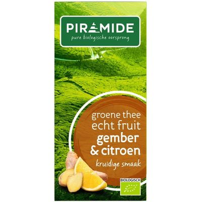Piramide Groene thee met gember en citroen