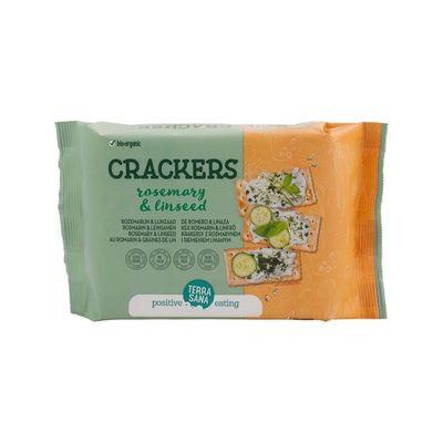 Terrasana Crackers lijnzaad & rozemarijn