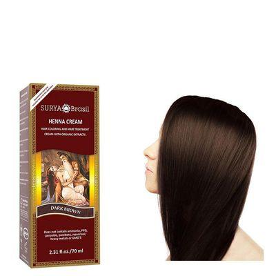 Surya Brasil Henna haarverf creme donker bruin