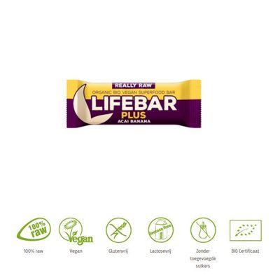 Lifefood Lifebar plus acai banana bio