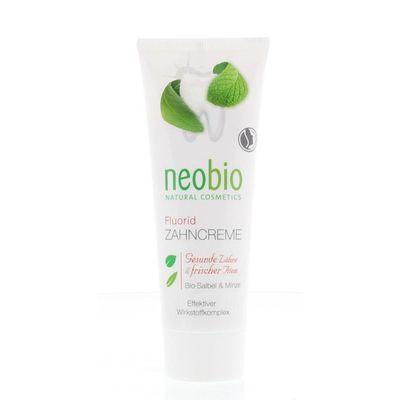 Neobio Tandpasta fluor salie & munt