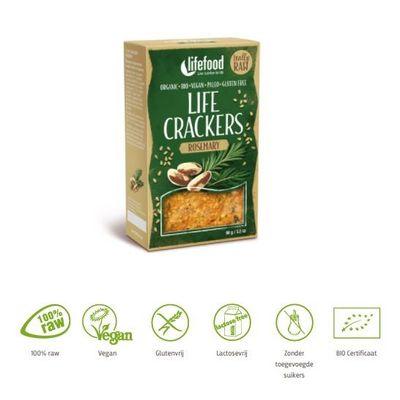 Lifefood Life crackers rozemarijn