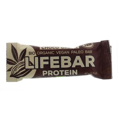 Lifefood Lifebar plus choco green protein bio