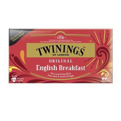 Twinings English breakfast envelop zwart