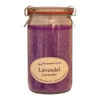 Kerzenfarm Geurkaars weckglas lavendel