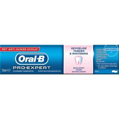 Oral B Tandpasta pro expert sensitive whitening