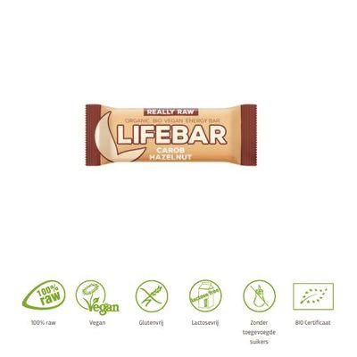 Lifefood Lifebar carobe hazelnoot bio