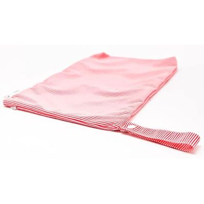 Bambooty Wetbag luierzak rood/wit strepen