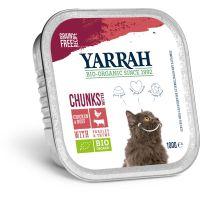 Yarrah Biologisch kattenvoer chunks met kip en rund