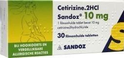 Sandoz Cetirizine 10 mg