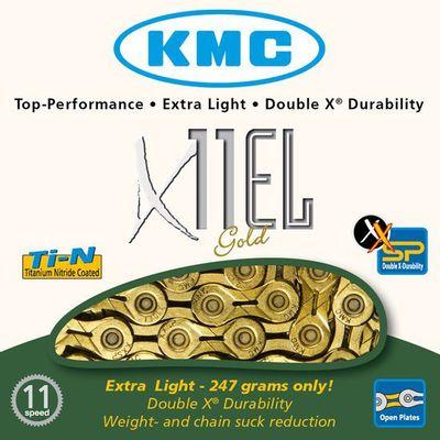 KMC ketting 1/2-11/128 112 11V X11EL TI-N gold light