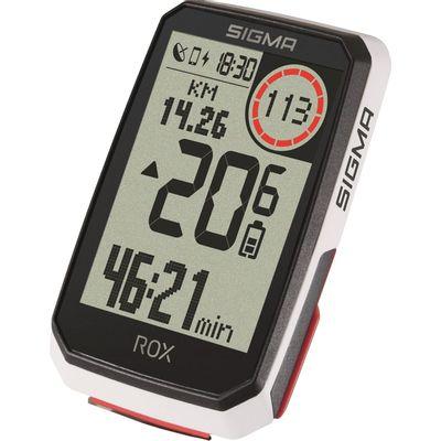 Sigma ROX 4.0 GPS White HR + sensoren top mount set
