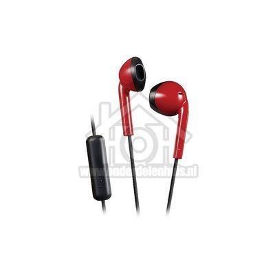 JVC Hoofdtelefoon Retro oordopjes, zwart rood Afstandsbediening met microfoon HAF19MRBE