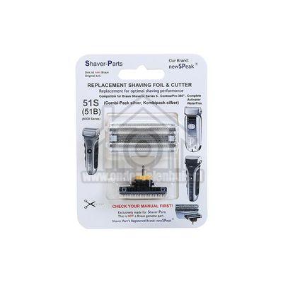 NewSPeak Scheerblad Series 5 51S Foil & Cutter 8000 series 4313042932625