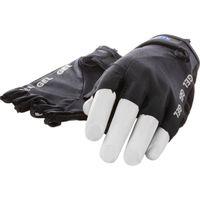 Mirage handschoen vingerloos Lycra gel zwart M