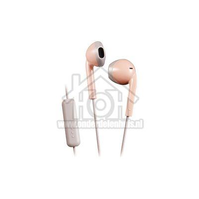 JVC Hoofdtelefoon Retro oordopjes, roze taupe Afstandsbediening met microfoon HAF19MPTE