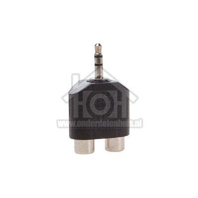 Easyfiks Jack Adapter Jack 3.5mm Stereo Male - 2x Tulp Contra RCA Female Verloopstekker