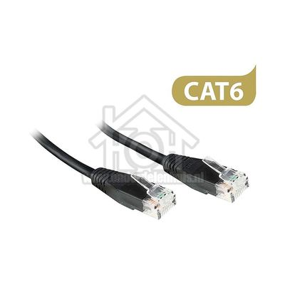 Ewent UTP/Netwerk kabel UTP CAT6E Netwerkkabel, RJ45 Male - RJ45 Male Zwart, Full Copper,