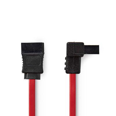 Sata kabel 0,5mtr rood haaks