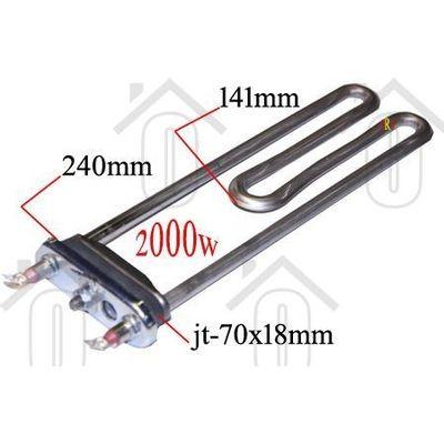 Bosch Verwarmingselement 2000W met gat WAQ20361, WAQ20320, WAQ28360 12004179