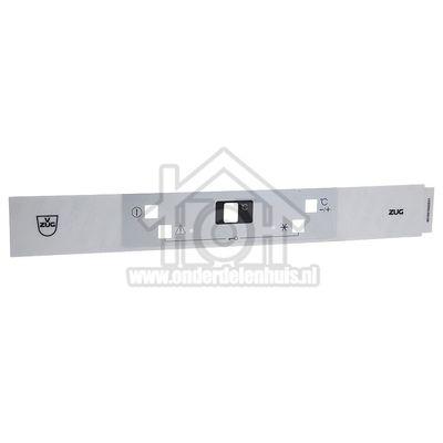Whirlpool Inlegplaatje Front bedieningspaneel V-ZUG 480131100328
