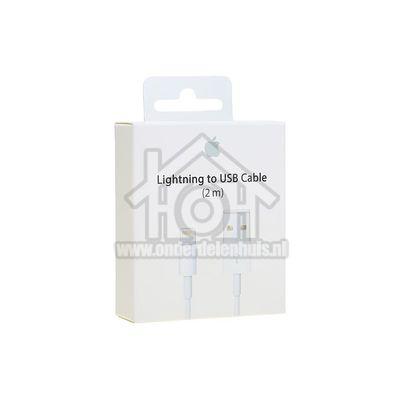 Foto van Apple Lightning cable USB kabel naar lightning, wit 2m Apple 8-pin Lightning connector