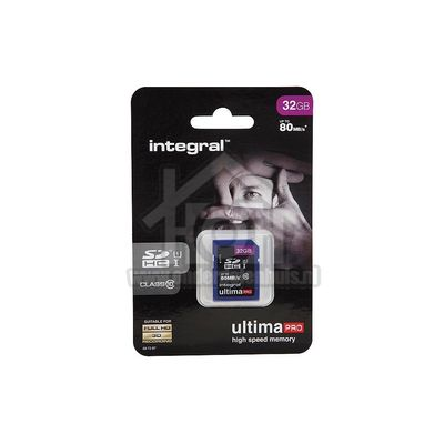 Integral Memory card Class 10 80MB/s SDHC card 32GB INSDH32G10-80U1