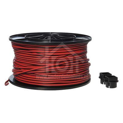 Universeel Snoer Luidsprekersnoer 2x0.35 Rood/zwart kabelhaspel 0126917