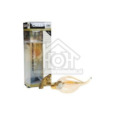 Foto van Calex Ledlamp Filament Tip-Kaarslamp 240V 3,5 Watt 200 Lumen 2100K E14 BXS35 Dimbaar 474494