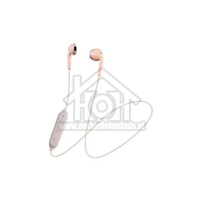 JVC Hoofdtelefoon Draadloze retro oordopjes, roze taupe Afstandsbediening met microfoon